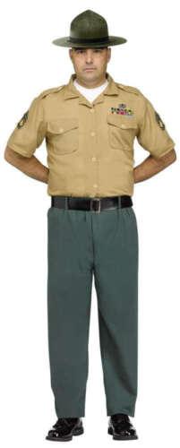 Homme Drill Sergent Armée Uniforme Forces Stag Do Party Fancy Dress Costume Outfit