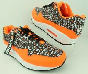 Details about Nike 875844 008 Air Max 1 Premium JDI Just Do It Orange Black White Shoe Mens 10
