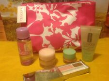 clinique make up bag and travel sizes cleanser moisturiser eye shadow NEW