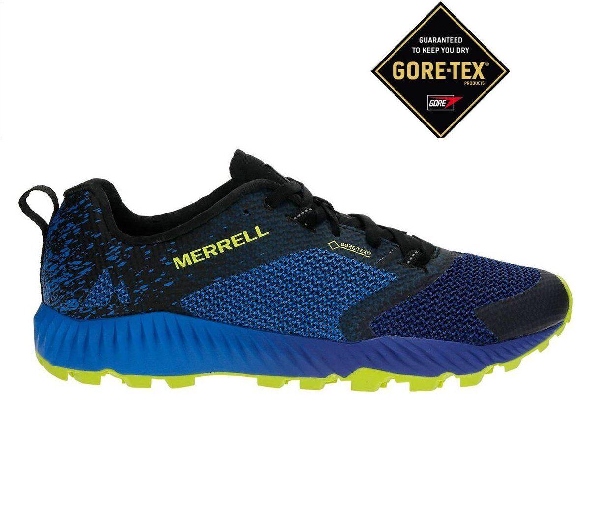 shoes RUNNING men MERRELL blueET GORETEX   ART. J18837