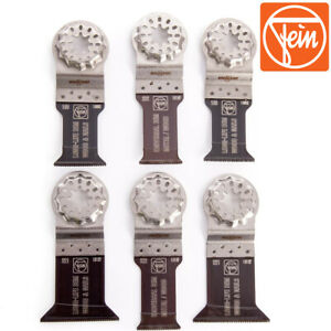 Details about FEIN 35222952300 - Fein Starlock E-Cut Wood/Metal Multi-Tool  Blade Set - 6 Piece