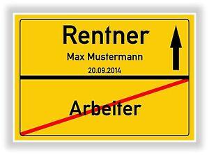 Ortsschild-Bild-Rente-Rentner-Ruhestand-Geschenk-Geschenkidee-NEU