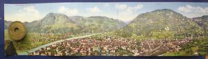 Kolorierte-Lithografie-Panorama-von-Bozen-Gries-AK-1910-Chromolithographie-sf