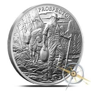 Prospector 1 oz .999 Silver Round - Coin Bullion California Gold Rush NEW DESIGN