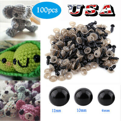 100Pcs Plastic Safety Eyes For Animal Toy Doll Puppet Making DIY Craft