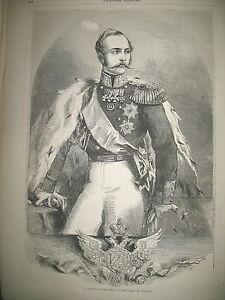 RUSSIE-EMPEREUR-ALEXANDRE-II-ET-IMPERATRICE-MARIE-ALEXANDRINE-GRAVURES-1864