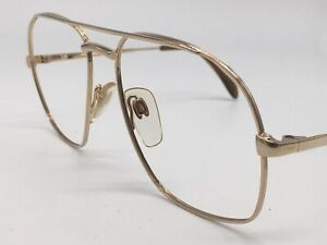 METZLER-True-Vintage-Brille-7720-Aviator-Gold-W-Germany-Design-1980er-Large