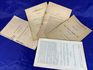 Lot 6 Pre Civil War Congress Documents Original - 1838 1841 1863 1877 1896 -c258