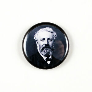 Jules Verne - Author - Literary 1 inch Pinback Button - 20,000 Leagues Under Sea