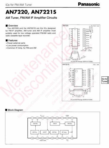1 pcs AN7220A  AM Tuner AM//FM Amplifier Cirquit 7220 IC