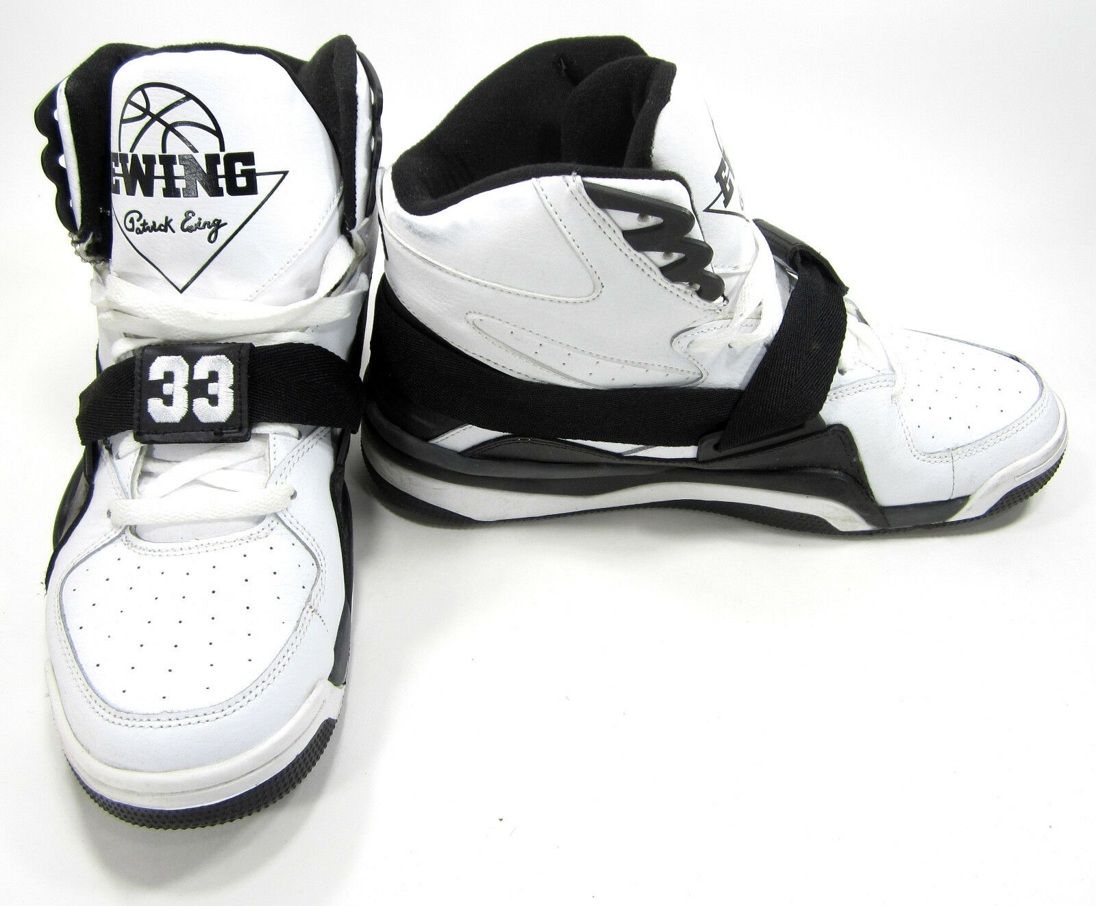 14edc3c6f864e Ewing Shoes 33 33 33 Hi Leather Athletic Sports White Black Sneakers Size 11  8f83db