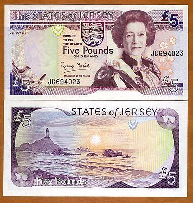 5 x 5 pounds QEII UNC /> Old Design LOT Jersey Pick 27 2000 ND