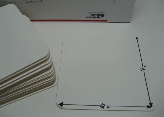 Classroom set of 25 DryErase Individual 12 x12  Weißboard Markerboard