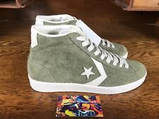 c557a5616481 Converse Pro Leather Mid Mens Suede Skate Shoes Shoe Olive White 157690C  Size 9