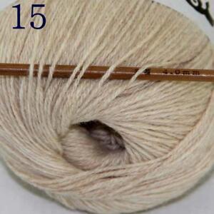 Hot-1ballx50g-100-Pure-Sable-Cashmere-Hand-Yarn-Shawls-Wrap-Crochet-Knitwear-15