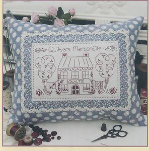 SALE-PATTERN-Quilters-Mercantile-pretty-stitchery-amp-pieced-pillow-PATTERN