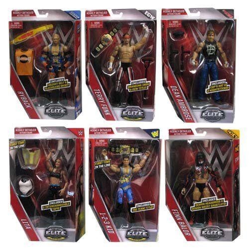 WWE COMPLETO Set di 6 pacchetto 41 ELITE Accessori serie Mattel Wrestling Figure