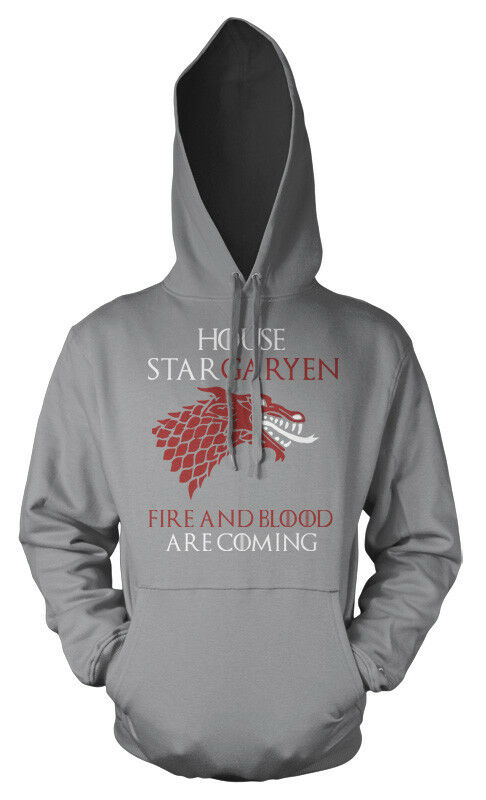 Game of Thrones House Stargaryen Fire and Blood are Coming Adult Hoodie