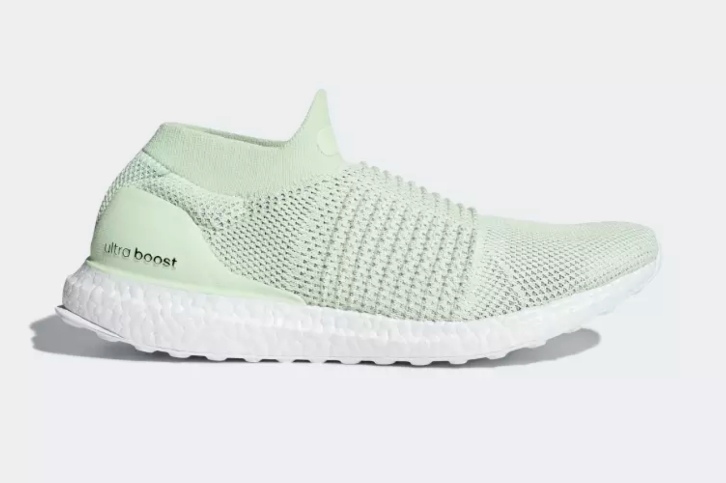 Men's Adidas Ultra Boost Laceless -Light Green UK 13.5-VERY RARE COLOUR AND SIZE