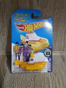 Hot-Wheels-2016-225-250-de-The-Beatles-Yellow-Submarine-tiempo-de-pantalla-de-hardware-caso-L