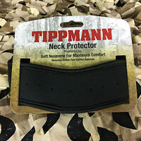 Tippmann Paintball Airsoft Padded Neck Guard Throat Protector - Black