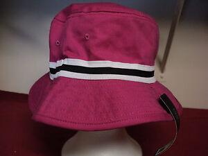 City Hunters USA Men s   Women s Bucket Hat new Pink with black ... 9309f97c6