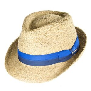 Image is loading Stetson-Hats-Largo-Raffia-Straw-Trilby-Natural 180064a91251