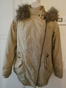 314f54fe2 GREAT ELEGANT STYLISH COZY PARKA COAT JACKET FUR WARM SIZE S