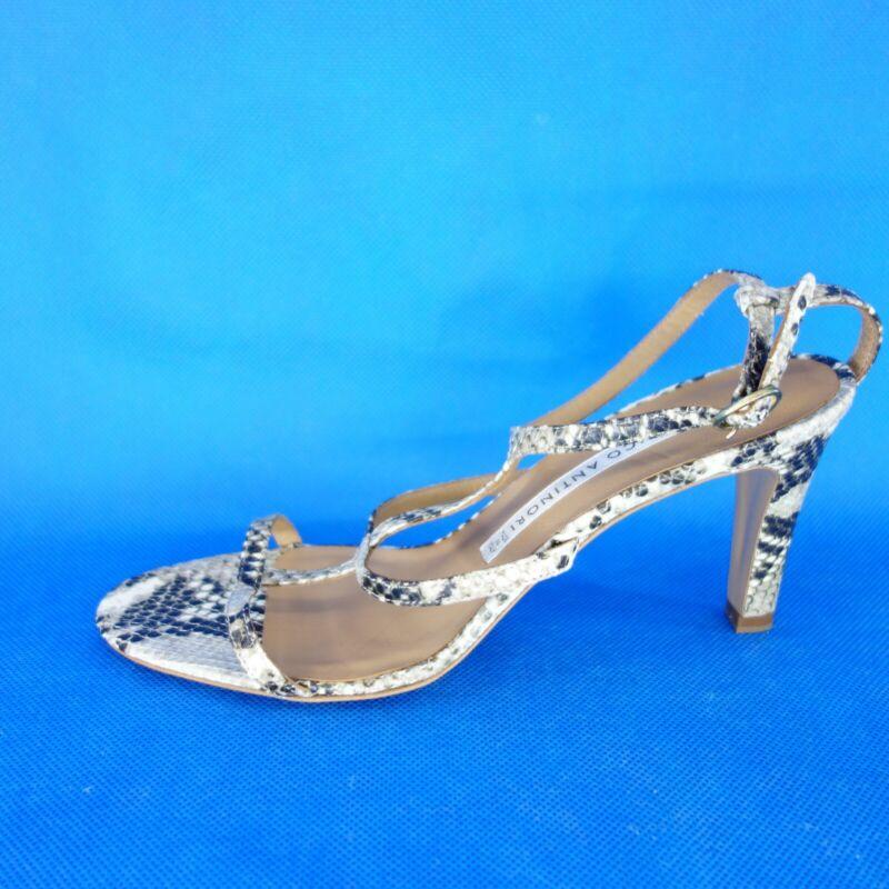 Enrico Antinori Damen Sandaletten Schuhe Kenia Sasso Leder Gr 38,5 Np 215 Neu