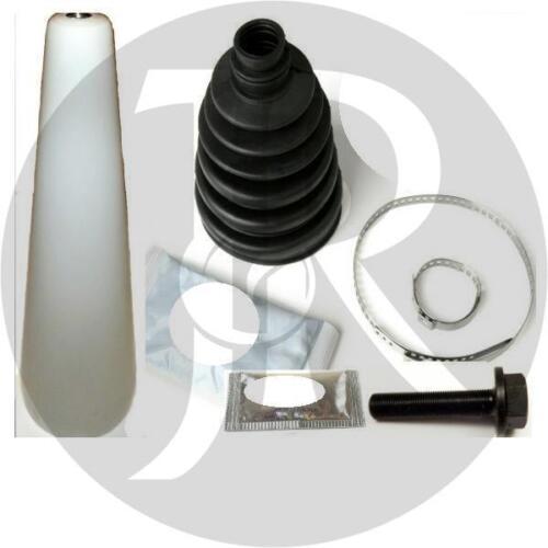 AUDI CABRIOLET 2.8 DRIVESHAFT HUB NUT//BOLT /& CV JOINT BOOT KIT /& CONE 99/>01