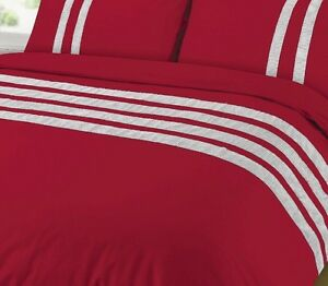 CLEARANCE RED Diamante Luxury Duvet Quilt Cover Set Egyptian 100/% Cotton 200TC