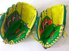 1990s Teenage Mutant Ninja Turtles Baseball Gloves Mitts Raphael Donatello TMNT