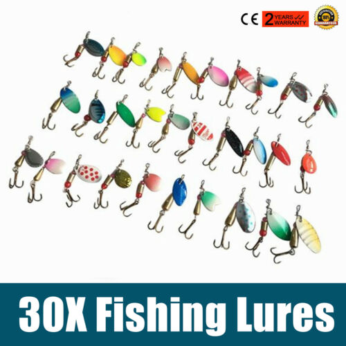 30X New Micro Ultra Light Fishing Lures Trout Chub Fishing Kits