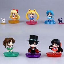 Sailor moon Anime Manga Figuren 6er Set H:6cm Neu