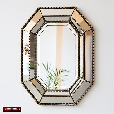 Gold Large Accent Mirror Wall Decor Andes Luxury Peruvian Mirror Livig Room Ebay