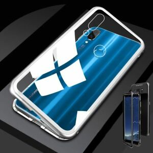 new style 848a5 191b1 Für Huawei Honor 8X Magnet / Metall Glas Silber / Transparent Tasche ...
