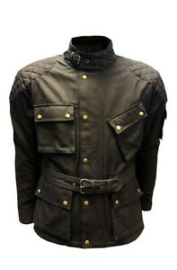 Warrior-Classic-Motorcycle-Waxed-Cotton-Motorbike-Cotton-Waxed-Waterproof-Jacket