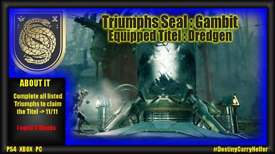 Destiny 2 TRIOMPHE SEAL: stratagème-ps4, xbox, (PC Coming