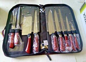 Set Coltelli Professionali 9pz acciaio INOX Zu SCHNEIDEN Coltello da cucina NEW