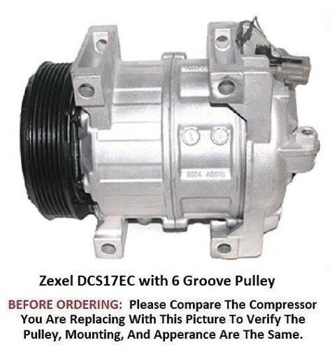 Infiniti M45 4.5L  2006-2010   OEM Zexel DCS17EC  6 Groove AC Compressor