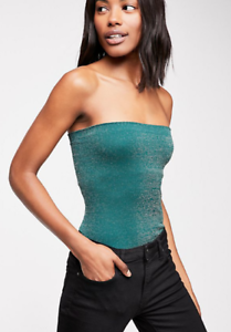 526a997695 NEW Free People Intimately Seamless Sparkle Tube Top Emerald Sz XS ...