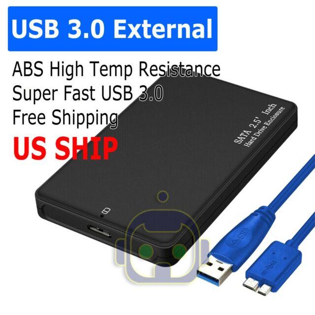 "USB 3.1 Type C 2.5/"" External HDD SSD Enclosure Hard Drive Case SATA 3.0 UASP"