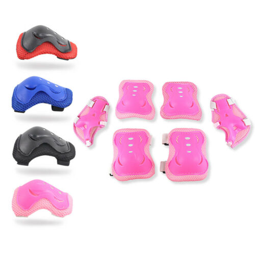 6Pcs Elbow Wrist Knee Pads Guards For Kids Skate Cycling Bike Safety Gear Set