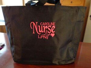 NURSE-TOTE-Bag-RN-LPN-CNA-MA-MEDICAL-OFFICE-HOSPITAL-LVN-DR-EMBROIDERED
