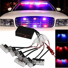 Car 18 LED Red/Blue Police Strobe Flash Light Dash Emergency Warning Lamp 3 Mode