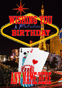 Image Is Loading Nevada Las Vegas Gambling Mia3 Happy Birthday Card
