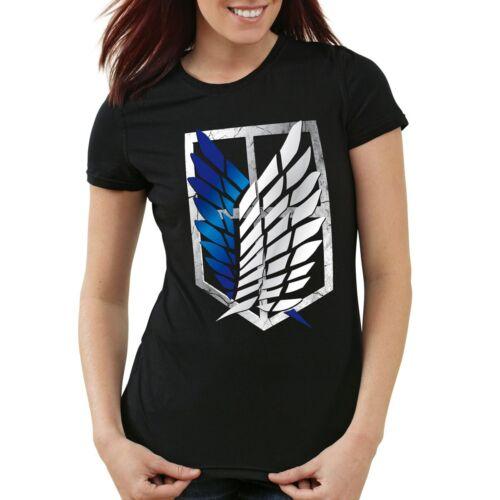 Lumières force t-shirt Femmes titan emblème géant attack on AOT tiver BLASON