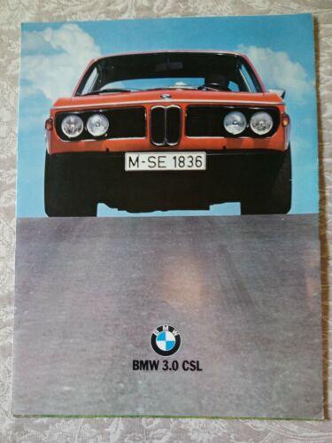 BMW 3.0 CSL Sales brochure