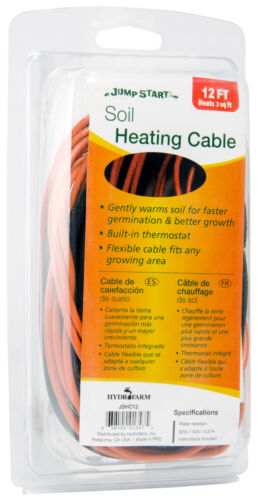 Jump Start Soil Heating Cable 12/' 24/' 48/' All Size Built-in Thermostat BAY HYDRO
