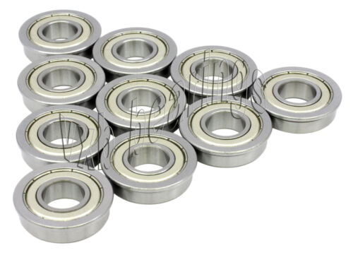 10 Bearings 5x11x4 Miniature Flanged Ball Bearing 5x11